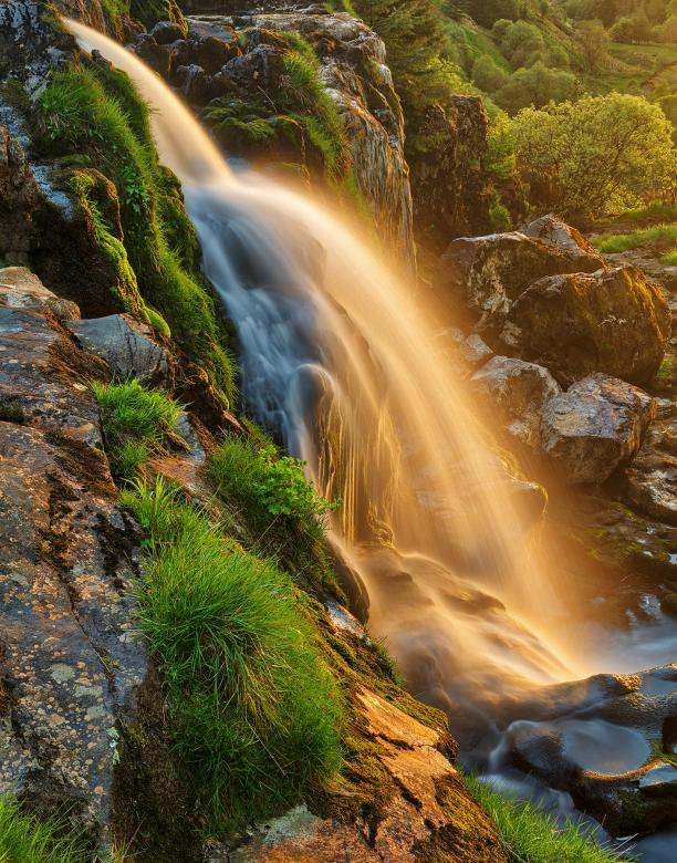 Free Stock Photo of Glowing Loup of Fintry Waterfall Created by Nicolas Raymond