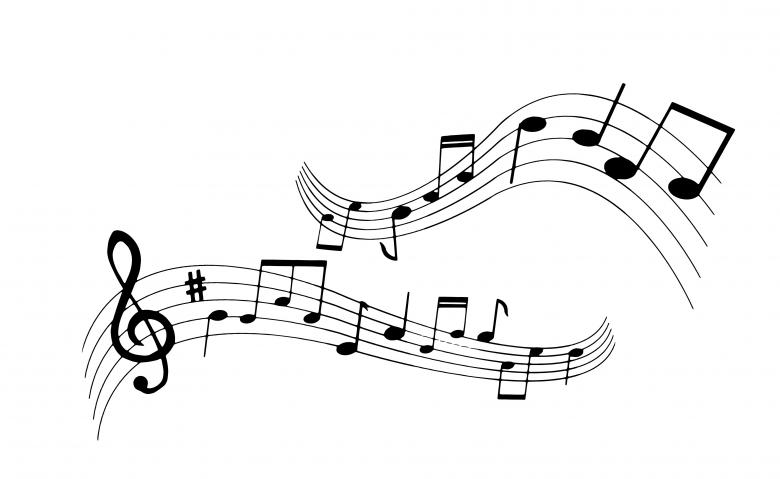 Free Stock Photo of Music Notes Created by mohamed hassan
