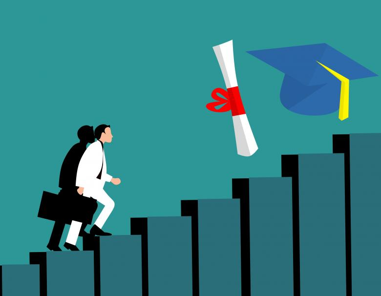 Free Stock Photo of Graduation Illustration Created by mohamed hassan