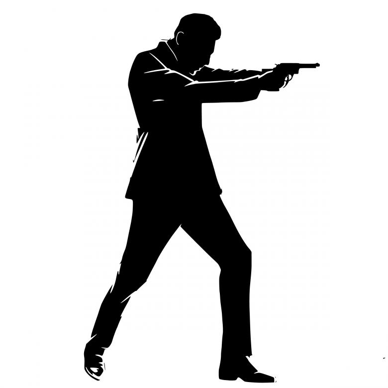 Free Stock Photo of Secret Agent Silhouette Created by mohamed hassan