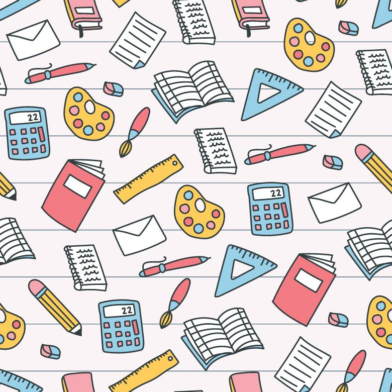 Free Stock Photo of Colorful School Pattern Created by Sara