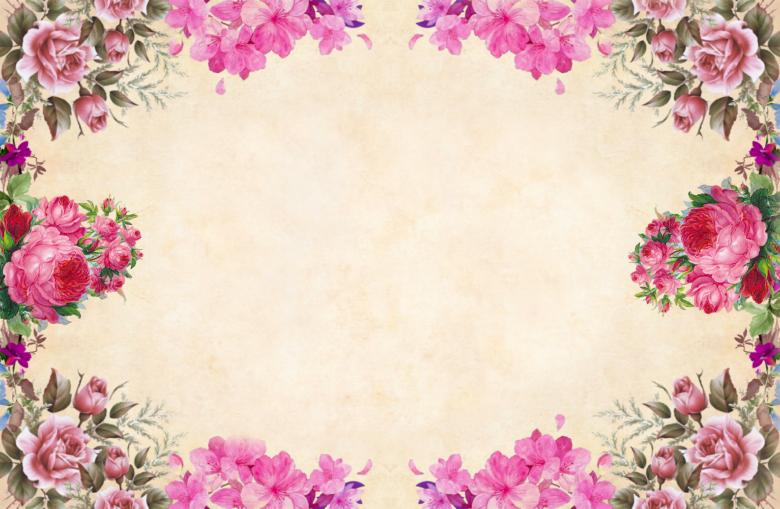 Pink Floral Vintage Paper Background Free Stock Photo By Mohamed