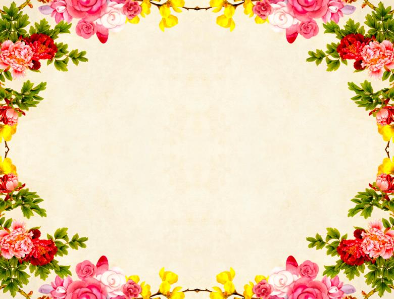 Free Stock Photo of Colorful Floral Frame Background Created by mohamed hassan