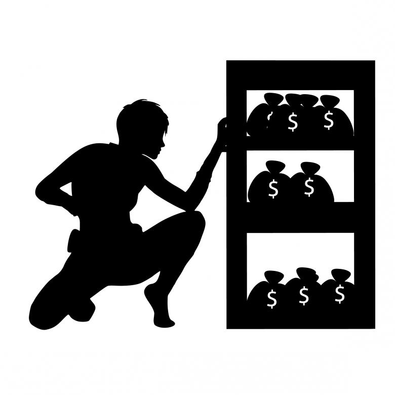 Free Stock Photo of Thief Silhouette Created by mohamed hassan