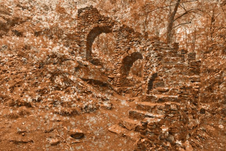Free Stock Photo of Decaying Sepia Ruins Created by Nicolas Raymond