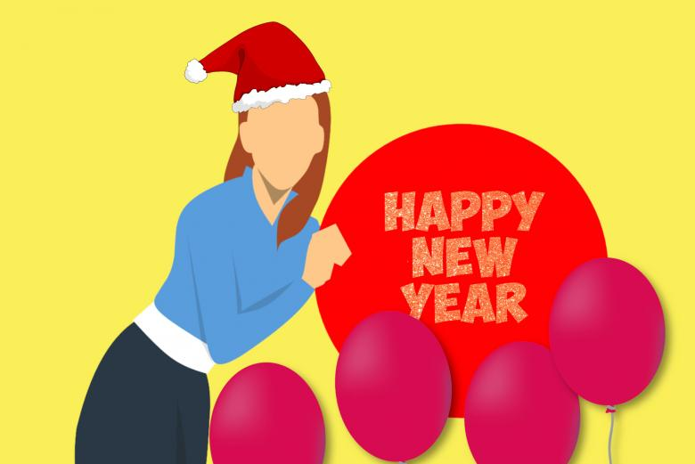 Free Stock Photo of New Year Celebration Illustration Created by mohamed hassan