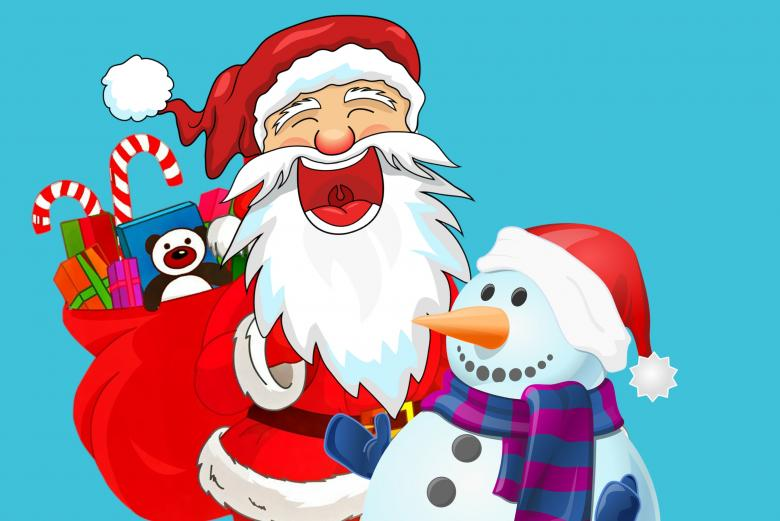 Santa and Snowman - Free Christmas Illustrations