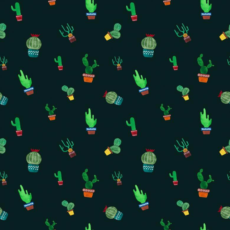 Free Stock Photo of Seamless cactus pattern Created by gingemar