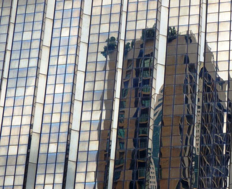 Free Stock Photo of Abstract high-rise building reflection in the glass facade Created by Ivan