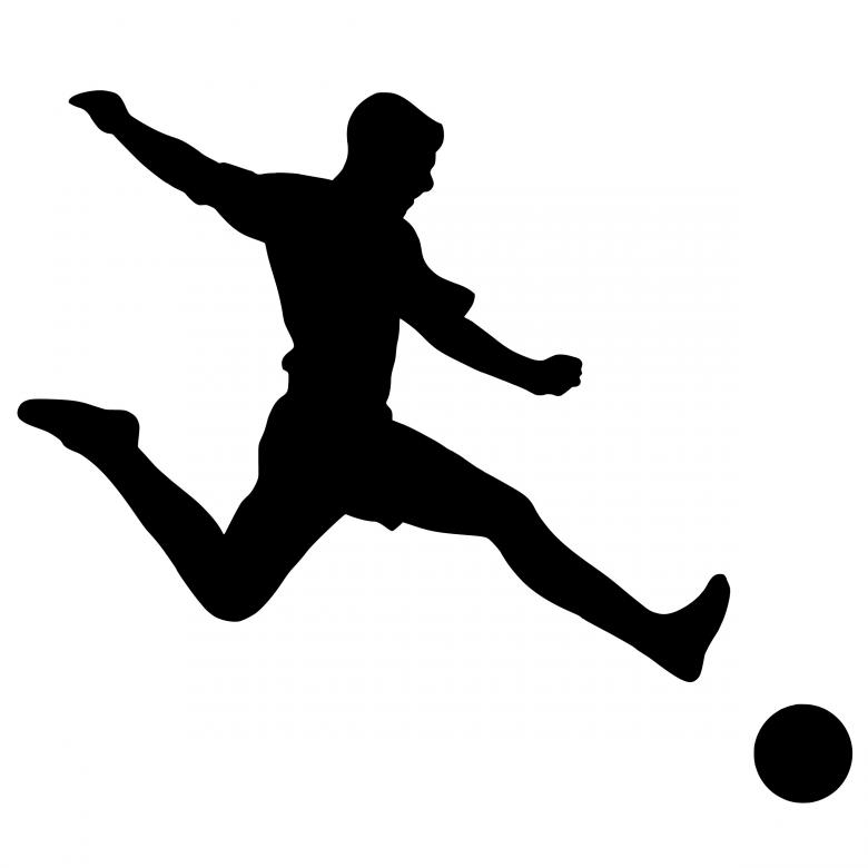 Free Stock Photo of Football Player Silhouette Created by mohamed hassan