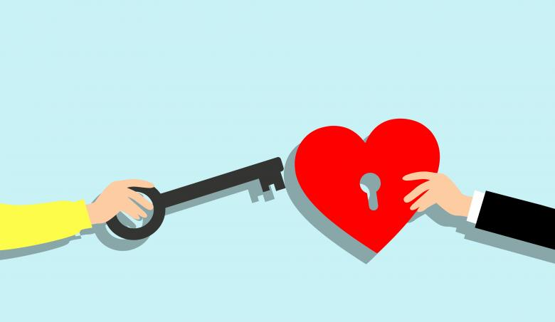 Free Stock Photo of Heart Key Illustration Created by mohamed hassan