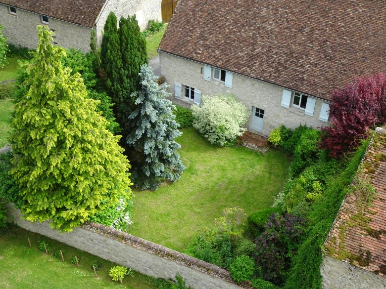 View From Above Nice Garden House And Trees Free Stock Photo
