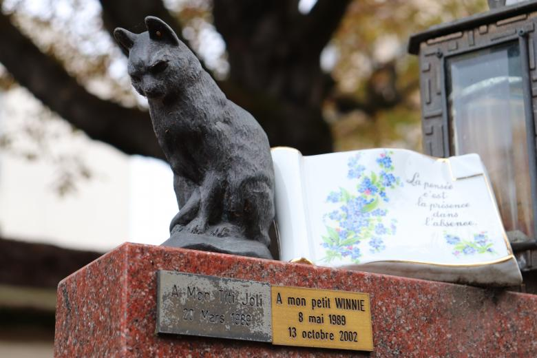 Free Stock Photo of Bronze sculpture of a cat over a grave Created by GAIMARD Jacques