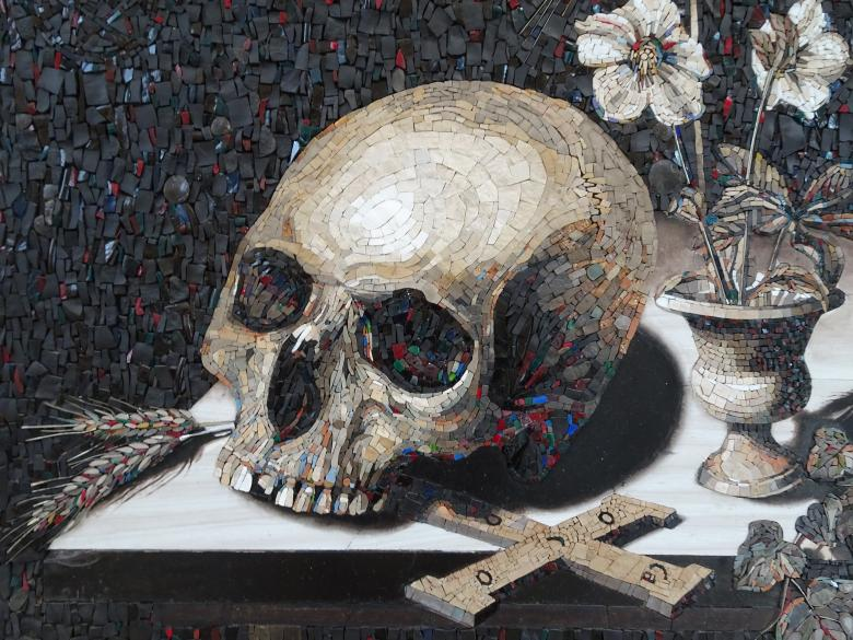 Free Stock Photo of Skull Mosaic Art Created by GAIMARD Jacques