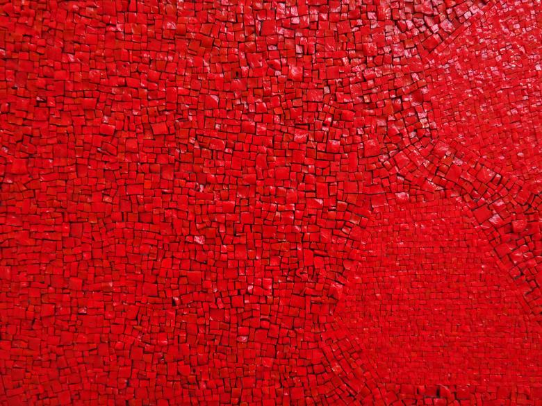 Free Stock Photo of Red Mosaic Texture Created by GAIMARD Jacques