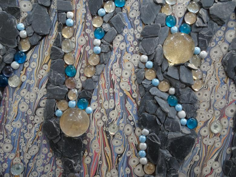 Free Stock Photo of Mosaic art with pearls Created by GAIMARD Jacques