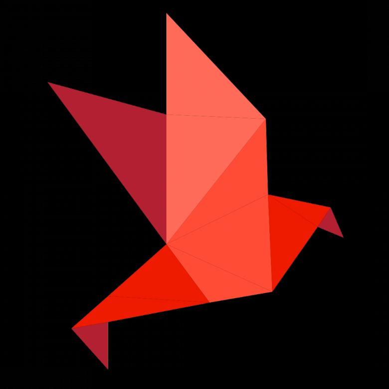 Free Stock Photo of Red Polygonal Bird Created by Helen