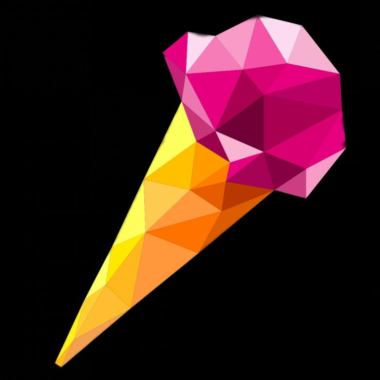 Free Stock Photo of Polygonal Ice-cream Created by Helen