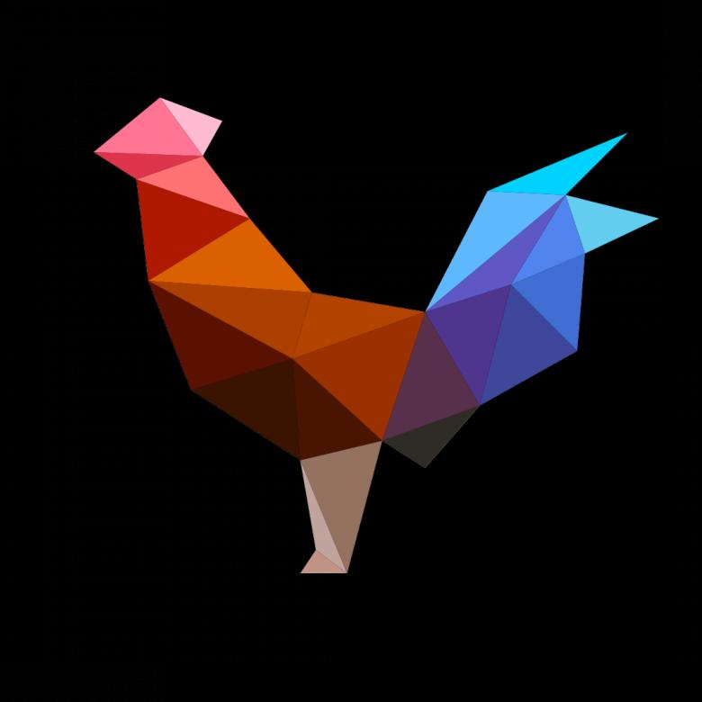 Free Stock Photo of Polygonal Cock Created by Helen