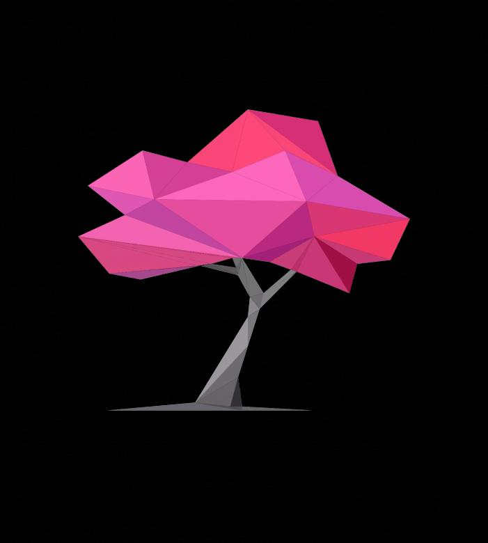 Free stock image of Polygonal Pink Tree created by Helen