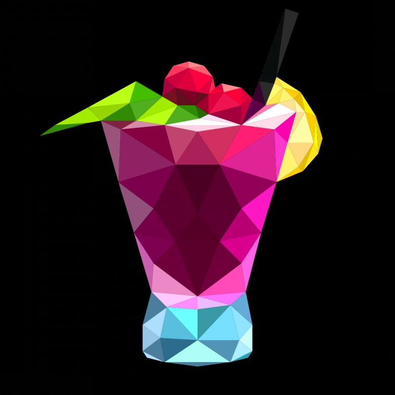 Free Stock Photo of Polygonal Cocktail Created by Helen