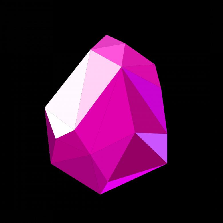 Free stock image of Purple Polygonal Crystal created by Helen