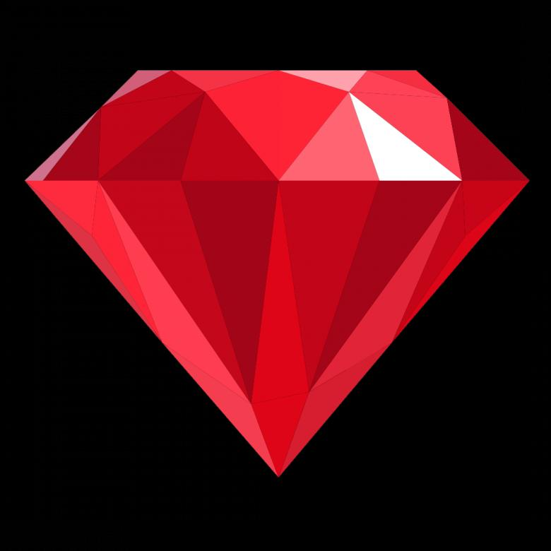 Free Stock Photo of Red Polygonal Diamond Created by Helen