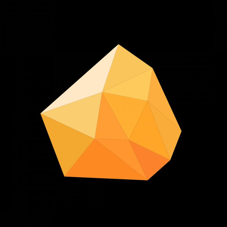 Free stock image of Orange Polygonal Crystal created by Helen