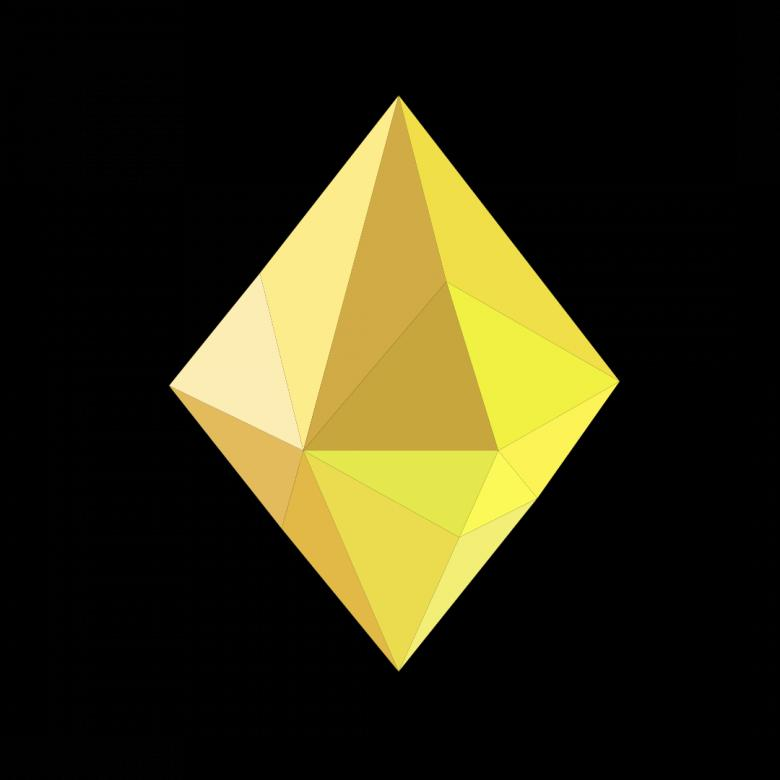 Free stock image of Yellow Polygonal Crystal created by Helen