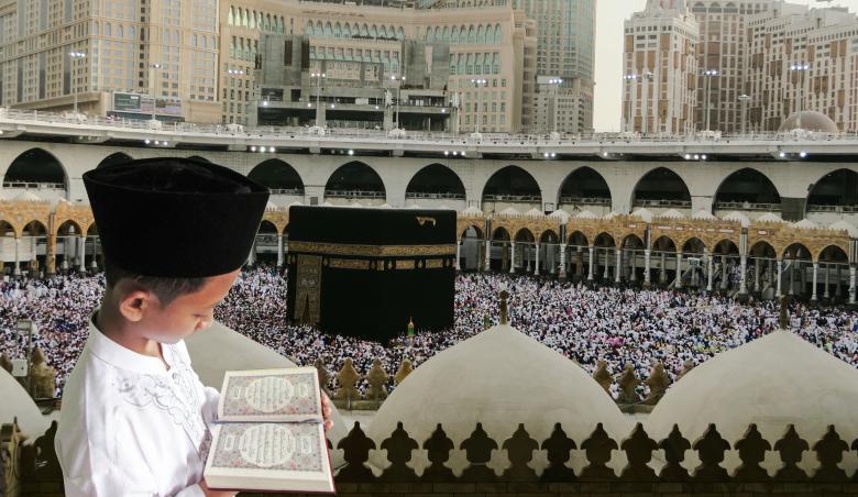 Child Reading Quran in Mekka - Free Religion Stock Photos