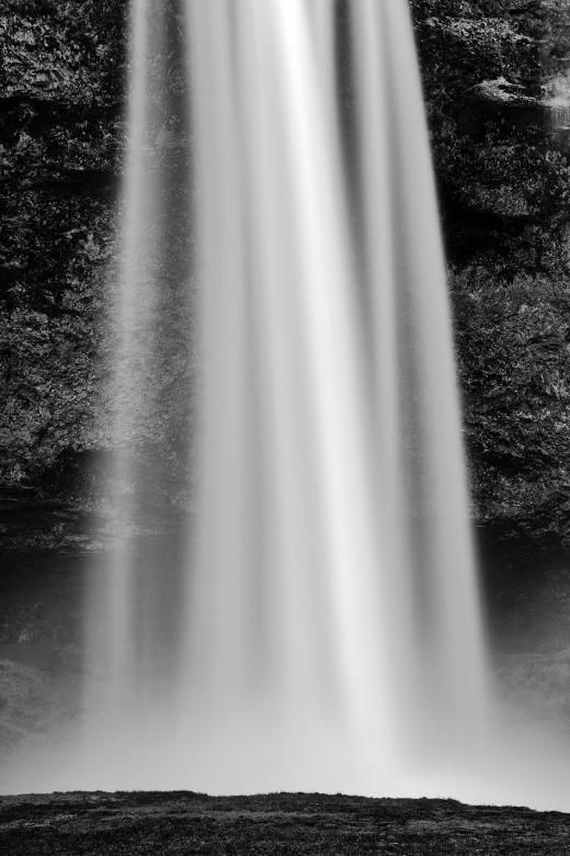 Free Stock Photo of White Silk Veil of Seljalandsfoss Created by Nicolas Raymond