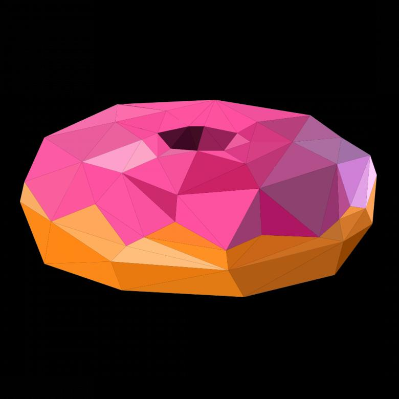 Free stock image of Polygonal Donut created by Helen