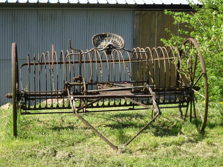 Free Stock Photo of Our great grandfather horse drawn rake!! Created by GAIMARD Jacques