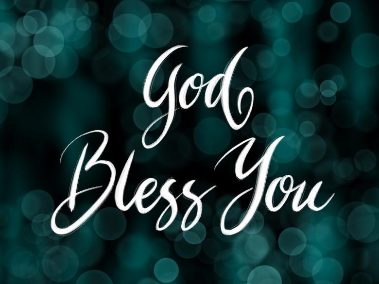 God bless you calligraphy - Free Religion Stock Photos