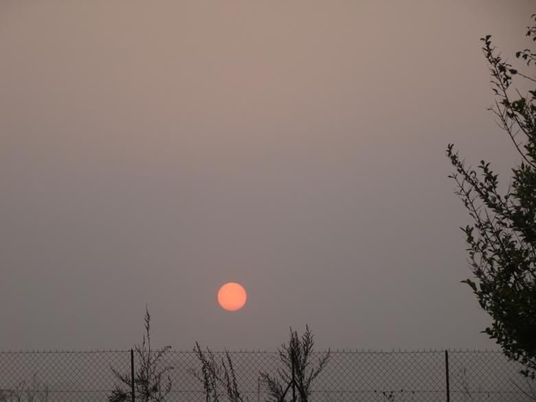 "Free stock image of Beautiful ""red"" sun during foggy sunrise created by GAIMARD Jacques"
