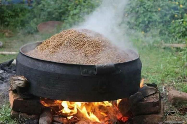 Free Stock Photo of Boiling Paddy Created by VIJOY M ALEXANDER