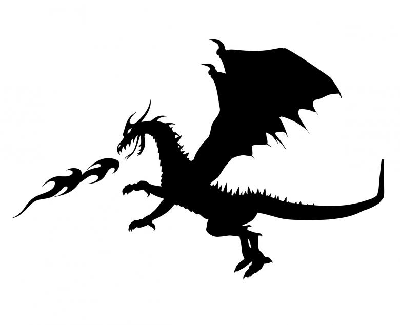Free Stock Photo of Dragon Silhouette Created by mohamed hassan