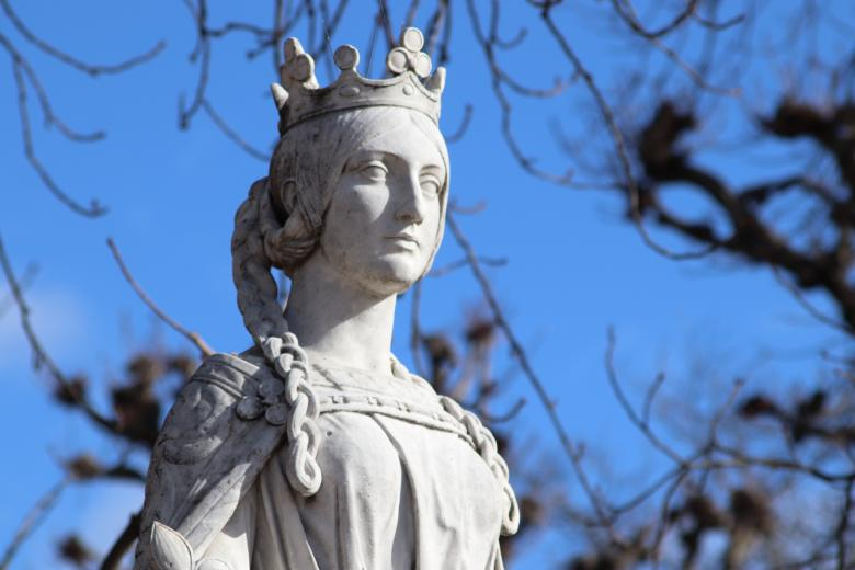 Free Stock Photo of Statue of french queen of 8th century Created by GAIMARD Jacques
