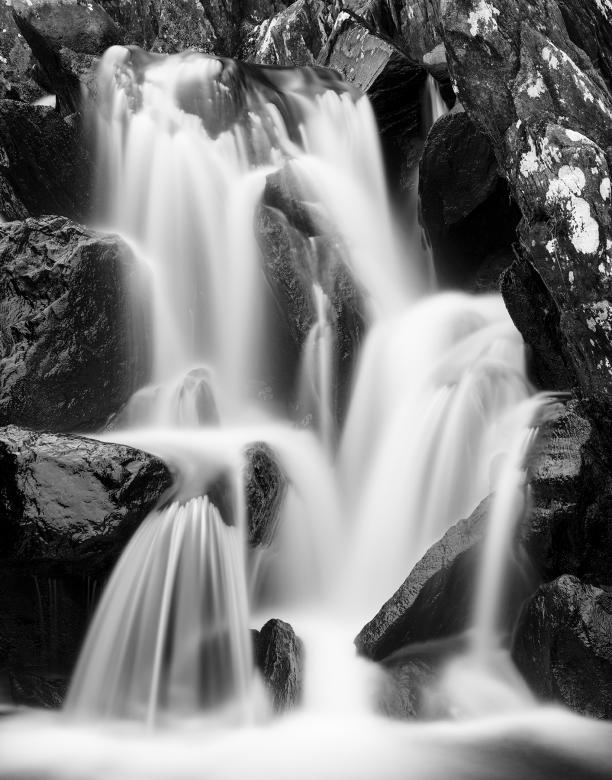 Free Stock Photo of Ogwen Cottage Falls - Black & White Created by Nicolas Raymond
