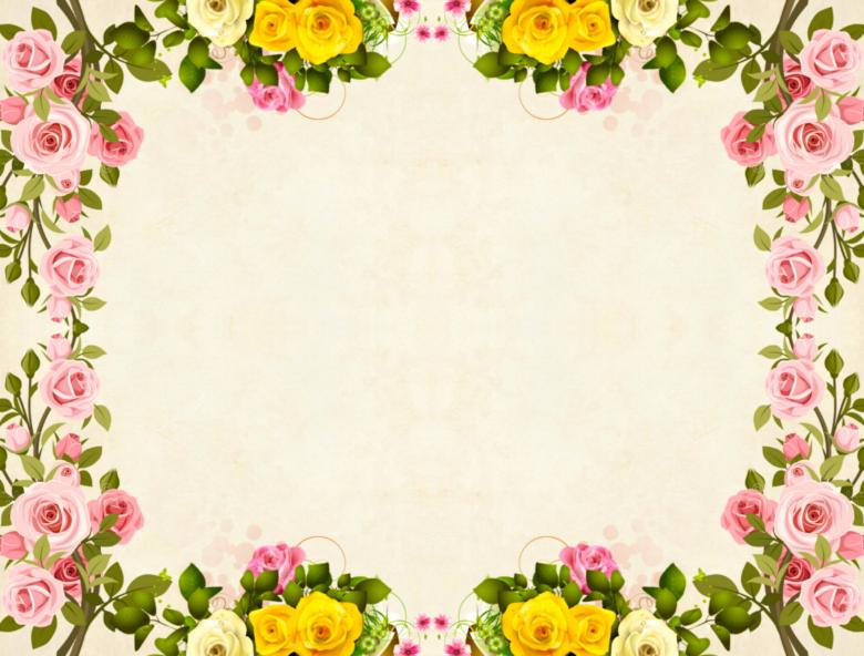 Free Stock Photo of Yellow Flower Frame Vintage Background Created by mohamed hassan