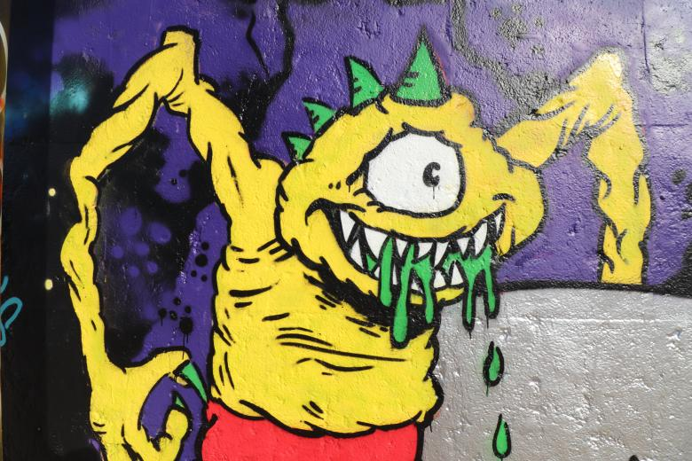 Free Stock Photo of Monster graffiti on a wall Created by GAIMARD Jacques