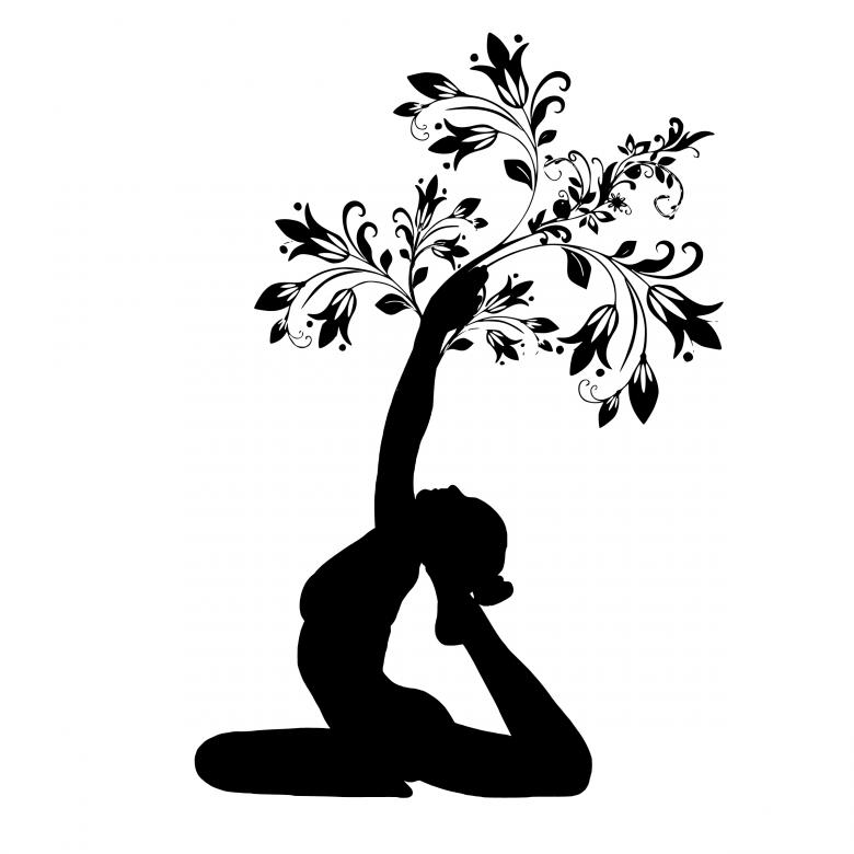 Free Stock Photo of Yoga Pose Silhouette Created by mohamed hassan