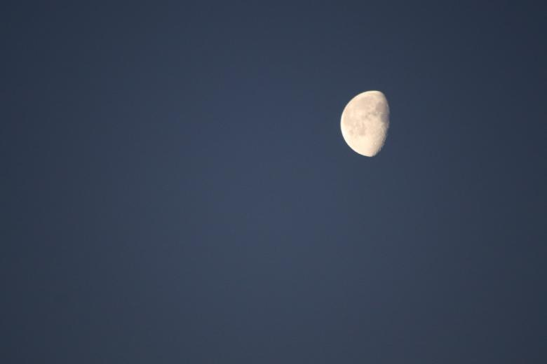Free stock image of Lonely moon... created by GAIMARD Jacques
