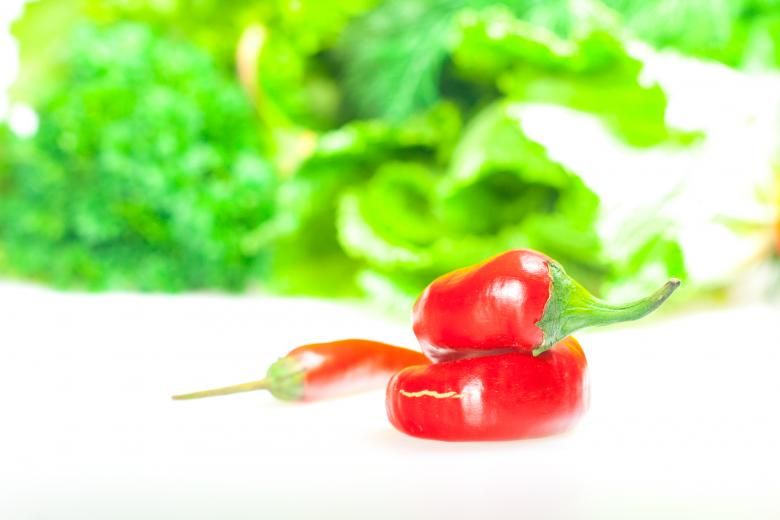 Free Stock Photo of Red chilli peppers and greens Created by 2happy