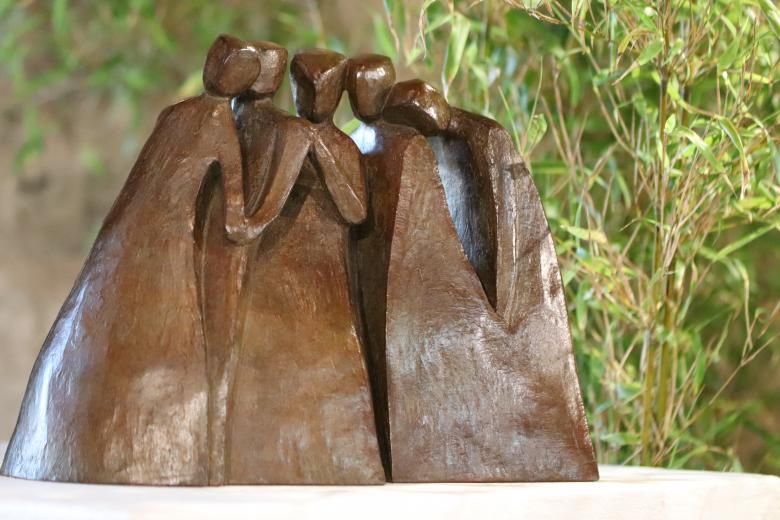 Free stock image of Modern brown bronze sculpture created by GAIMARD Jacques