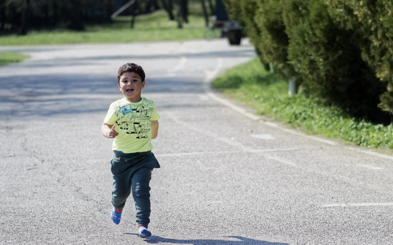 Free Stock Photo of A little boy running Created by Mircea Iancu