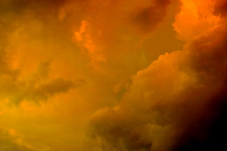 Free Stock Photo of Orange Storm Clouds Created by Bjorgvin