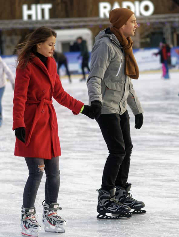 Free Stock Photo of Couple on ice skating rink Created by Mircea Iancu