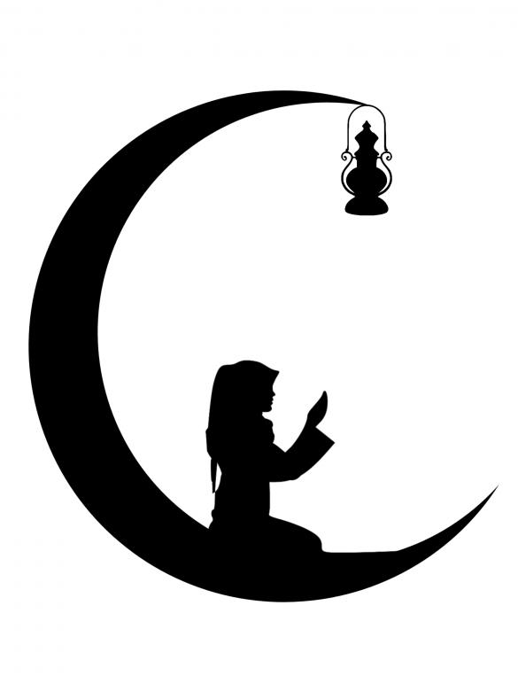 Free Stock Photo of Ramadan Mubarak Silhouette Created by mohamed hassan