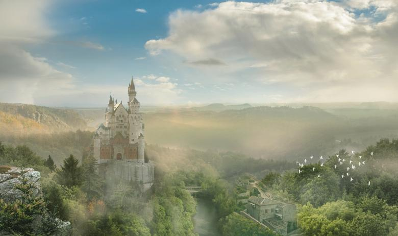Free Stock Photo of Castle in Fantasyland Created by selim çatak